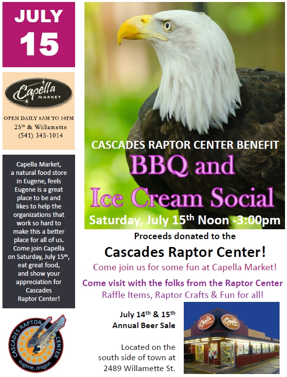 Cascades Raptor Center Event Poster