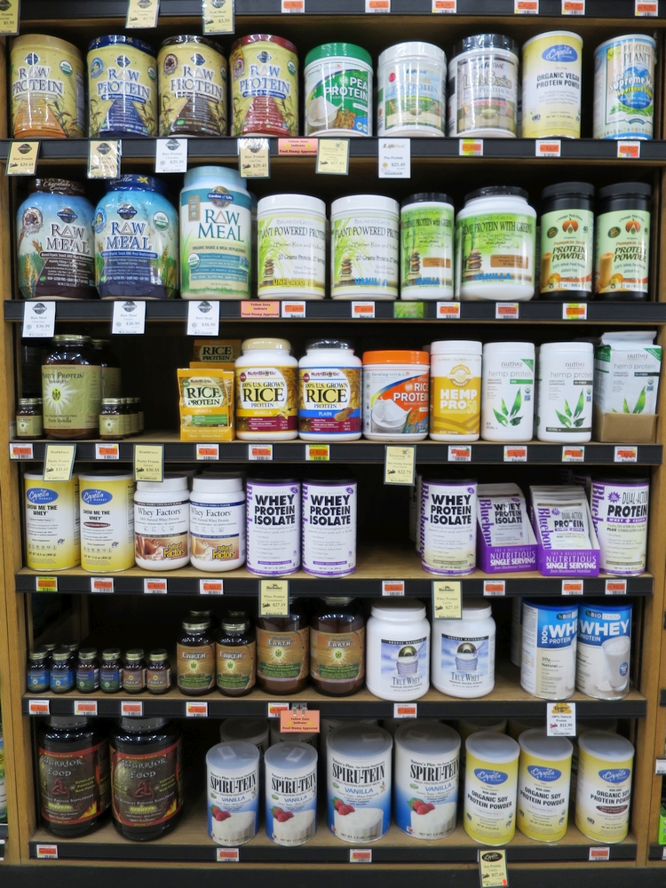 Capella's variety of protein powders